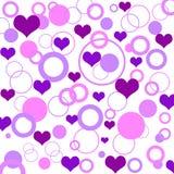 Retro hearts Royalty Free Stock Image