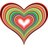 Retro hearts 2 Royalty Free Stock Photos