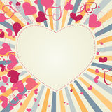 Retro hearts background Stock Photo