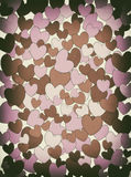 Retro hearts background Stock Photos