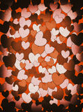 Retro hearts background Royalty Free Stock Photo