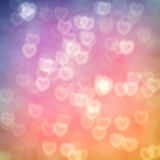 Retro Hearts Bokeh Royalty Free Stock Photo
