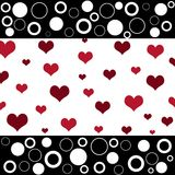 Retro hearts and circles stock illustration