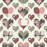 Retro hearts seamless pattern Royalty Free Stock Photography