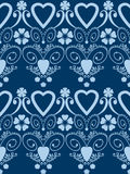 Retro hearts valentines day ornament seamless pattern background Stock Photos