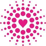 Retro hearts - vector Royalty Free Stock Photos
