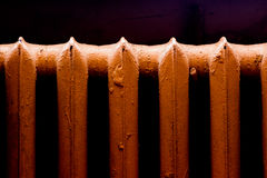 Retro heat radiator royalty free stock photo