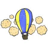 Retro- Heißluftballon der Karikatur Stockfoto