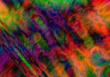 Retro heldere de kleurenachtergrond van Psychadellic Royalty-vrije Stock Afbeelding