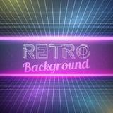 Retro- heller Neonfarbhintergrund der Weinlese-1980 Stockfotografie
