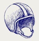 Retro helmet. Doodle style. Vector stock illustration