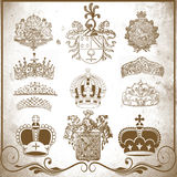 Retro heraldic elements for design Royalty Free Stock Photos