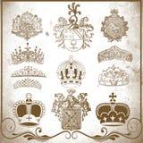 Retro heraldic elements for design Royalty Free Stock Photos