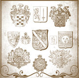 Retro heraldic elements for design Royalty Free Stock Photo