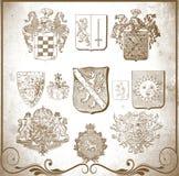 Retro heraldic elements for design Royalty Free Stock Photo