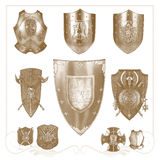Retro  heraldic elements Royalty Free Stock Images
