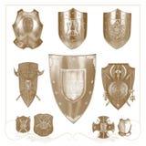 retro  heraldic elements Royalty Free Stock Images