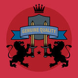 Retro heraldic emblem or label Royalty Free Stock Image