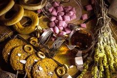 Retro herbaciany przyjęcie obraz royalty free