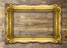 Retro Heroplevings Oude Gouden Omlijsting Royalty-vrije Stock Fotografie