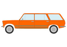 Retro herrgårdsvagnbil. royaltyfri illustrationer