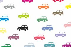 Retro het behang van het autovervoer vector als achtergrond Royalty-vrije Stock Foto