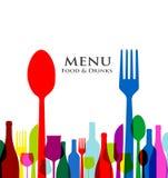 Retro het menuontwerpen van het dekkingsrestaurant Stock Afbeelding
