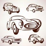 Retro het ontwerpelementen van de auto'sinzameling Stock Afbeelding