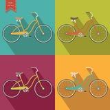 Retro het ontwerpmalplaatje van het fietspictogram Vector illustratie Royalty-vrije Stock Foto's