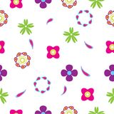 Retro het patroon van de stijl Naadloze bloem multikleur als achtergrond voor document gift; stof, muurdocument, achtergrond tot  vector illustratie
