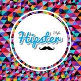 Retro het patroonontwerp van de hipsters in driehoek. royalty-vrije illustratie