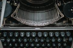 Retro het schrijven machine stock afbeelding