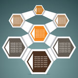 Retro Infographics. Retro hexagon infographics stock Royalty Free Stock Photography