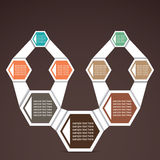 Retro Infographics. Retro hexagon infographics stock Stock Image