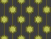 Retro Hexagons Green Seamless Tile Royalty Free Stock Image