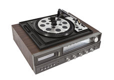 Retro Hi-Fi Stereo Isolated with Clipping Path Royalty Free Stock Photos