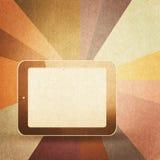 Retro hi-tech background. Vintage paper texture, retro hi-tech background Royalty Free Stock Image
