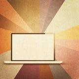 Retro hi-tech background. Vintage paper texture, retro hi-tech background Stock Photo