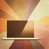 Retro hi-tech background. Vintage paper texture, retro hi-tech background Royalty Free Stock Photography