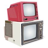 Retro high detailed isolated television set Stock Image