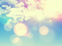 Retro himmelbakgrund Arkivfoto