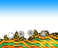 Retro- Hintergrund stock abbildung