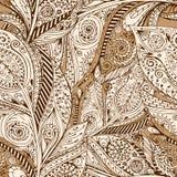 Retro- Hintergrund der nahtlosen Blume im Vektor Lizenzfreies Stockfoto