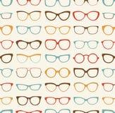 Retro- Hintergrund der nahtlosen Sonnenbrille Stockfotos
