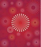 Retro- Hintergrund der roten Blume Stock Abbildung