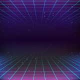 Retro- Hintergrund der Sciencefictions-80s Lizenzfreie Stockfotos