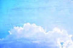 Retro- Hintergrund des blauen Himmels Stockbild