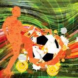 Retro- Hintergrund des bunten Fußballschmutzes Stockbild