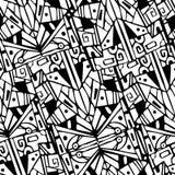 Retro- Hintergrund des geometrischen Hippies mit Platz für Stockfotos