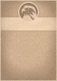 Retro- Hintergrund des kahlen Adlers Lizenzfreie Stockfotografie